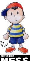 Earthbound Ness by FlintofMother3