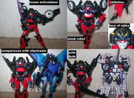 Wingblade Robot mode Review by lovefistfury