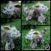 Light Belthvonian Hound Pup - Poseable Artdoll by SonsationalCreations