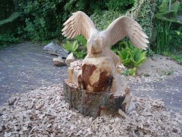 Eagle in progress5 by woodcarve
