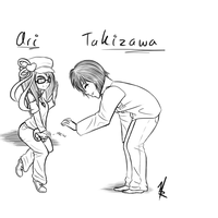 Ari and Takizawa by Kittique