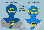 Japanese Batman Masks by ryuuseipro