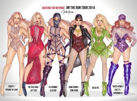 'ON THE RUN' Beyonce Couture Designs by Toblerone22