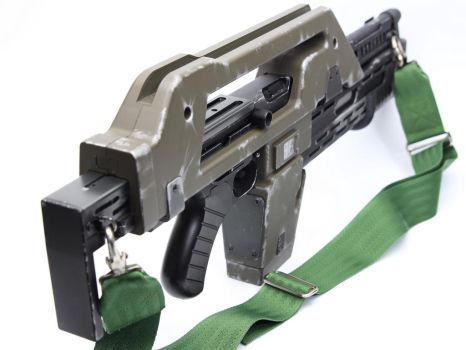 Custom Airsoft M41a Aliens Pulse Rifle 5 by SuicideNeil