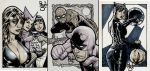 Three sketchcards by PauloSiqueira