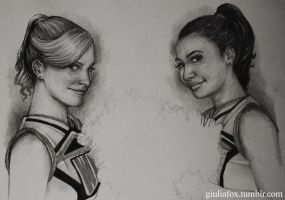 Brittany and Santana - work in progress - by JuliaFox90