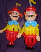 The Tweedle Brothers by mrballoonatic