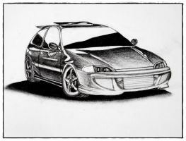 Honda Civic by oceanflowers