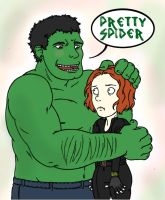 Hulk Hugs by Jinmachan