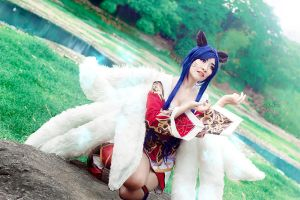 League of Legends: Ahri by JoviClaire