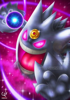 *LET'S PUT A SMILE ON THAT FACE!!! MEGA GENGAR!!!* by CHOBI-PHO