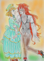 Loretta and Grell by Gala-maia