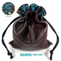 Bluefyre Mage Faux Leather Cotton Lined Dice Bag by Pasiphilo