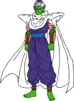 Barefoot Irritated Piccolo Jr. by DragonBallFan2012