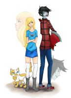 Fiona and Marshall Lee by VictoireJones