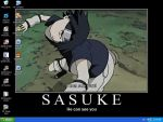 My desktop is of Sasuke??? by Tenjilover
