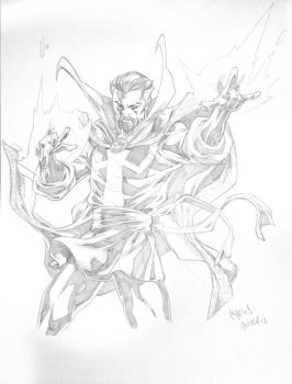 Dr. Strange sketch commission -video in YouTube- by CarlosGomezArtist