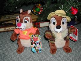 My chip and dale plushes by MightyMorphinPower4