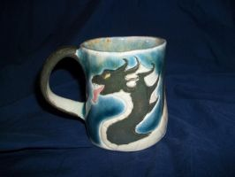 Sea Serpent Mug by wolfb09