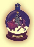 The Doctor and Clara by Emmi-Lou-Art