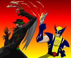 Freddy Vs Wolverine by AraghenXD