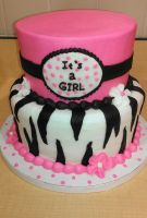 Tiered Pink Baby Shower Cake by ayarel