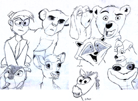 Disney Sketchdump by Hobo-Scented