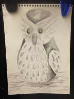Owl Charcoal Sketch by MissingHorcrux