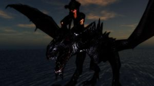 B**** I'm on a dragon!! by mrcoldflame901