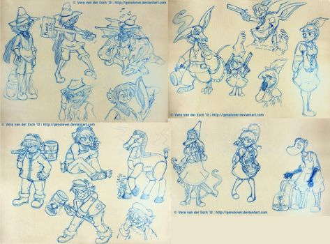 Steam Punk Moomins - Sketches by Genolover