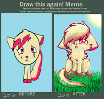 draw again meme by catsp00ky
