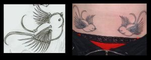 my swallow tatts almost done by mange