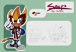 Sonic FC Ref: Snaps the Skink by PidgeonsPen
