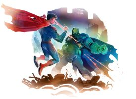 Batman vs. Superman by Nezart