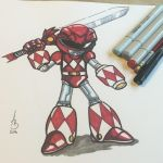 Red Mega-Ranger by AzizSupremeArt
