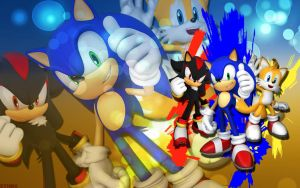 Sonic,Shadow And Tails - Wallpaper by SonicTheHedgehogBG