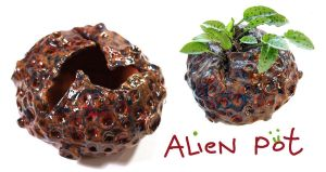 alien pot by Deadistress