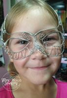 Young Model Izy and the Wire Mask by WireMoonJewelry