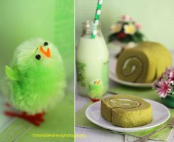 Green Tea Cake Roll by theresahelmer