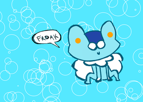 Froakie Chibi by Kat-The-Piplup