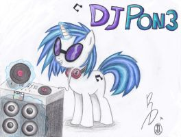Vinyl Scratch Collab by SarahThePegasister