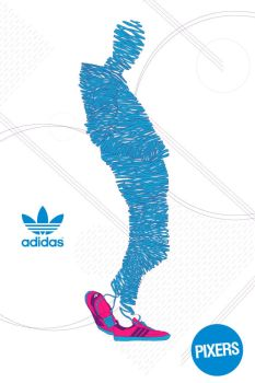 PIXERS's posters collection designed for Adidas by PIXERSIZE