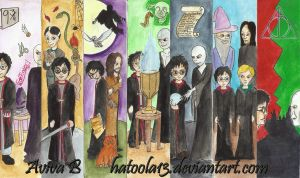 Harry Potter Bookmarks by hatoola13