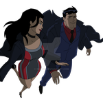 Clark and Diana flying by Samuel-Hunter