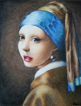 Girl with a pearl earring by TehLissness