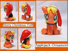 Applejack Ornament by CadmiumCrab