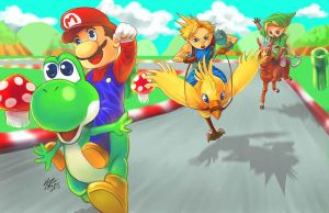 Super mario racing by meomeoow