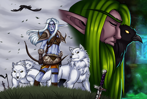 The Druid and the Huntress by RukiexRamen