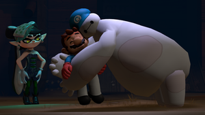 Baymax Hug [Splatoon SFM Crossover] by Geoffman275