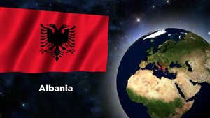 Flag Wallpaper - Albania by darellnonis